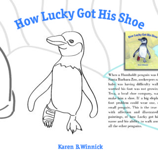 How Lucky Got His Shoe Coloring Page