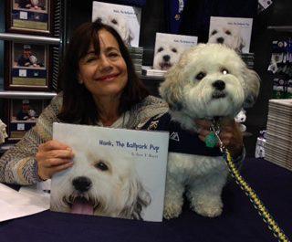 Karen B. Winnick and Hank, the Ballpark Pup